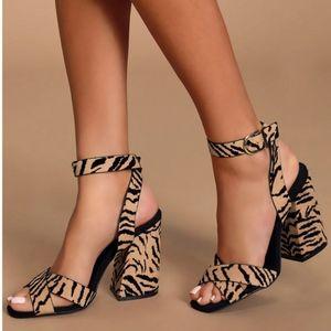 """""""JENNY"""" Block Heels - Tiger"""